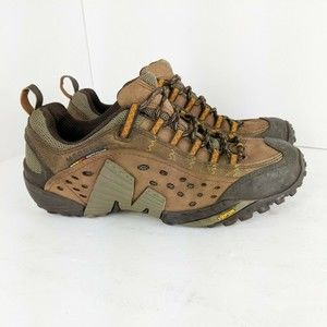 Merrell Mens Intercept Shoes Leather Hiking 8.5